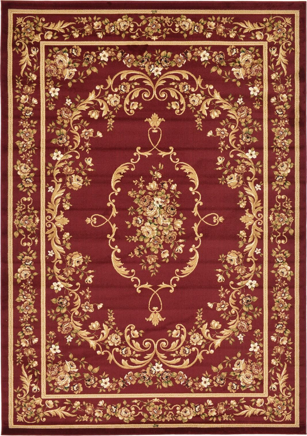 Red 8 2 X 11 6 Classic Aubusson Rug Area Rugs