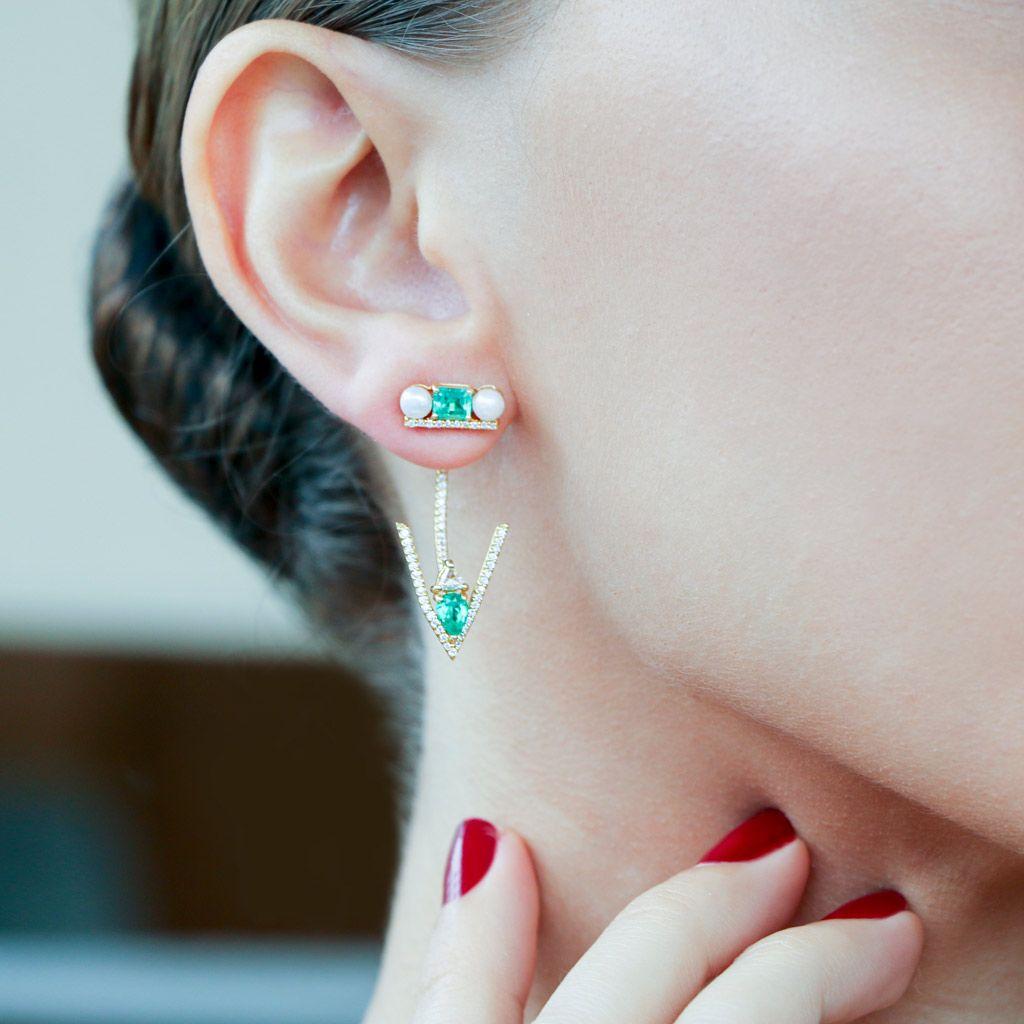 Veracity Emerald Ear Jackets Plukka