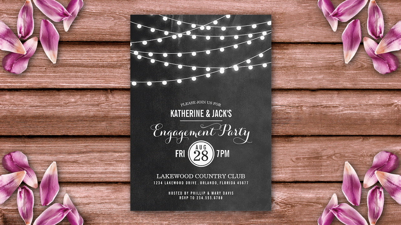Engagement Party Invitations customized online. High quality ...