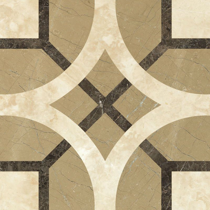 2014 China Manufacted Waterjet Marble Tiles Design Floor Pattern