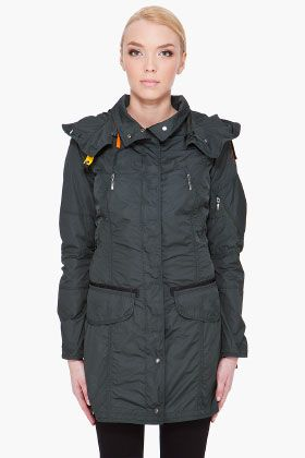 GREEN HOODED MARY TODD PARKA by PARAJUMPERS