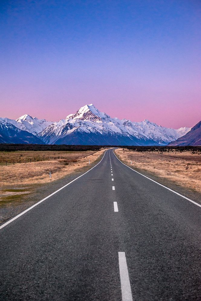 Mt Cook Dusk  JPW Photography  Road  Road Photography