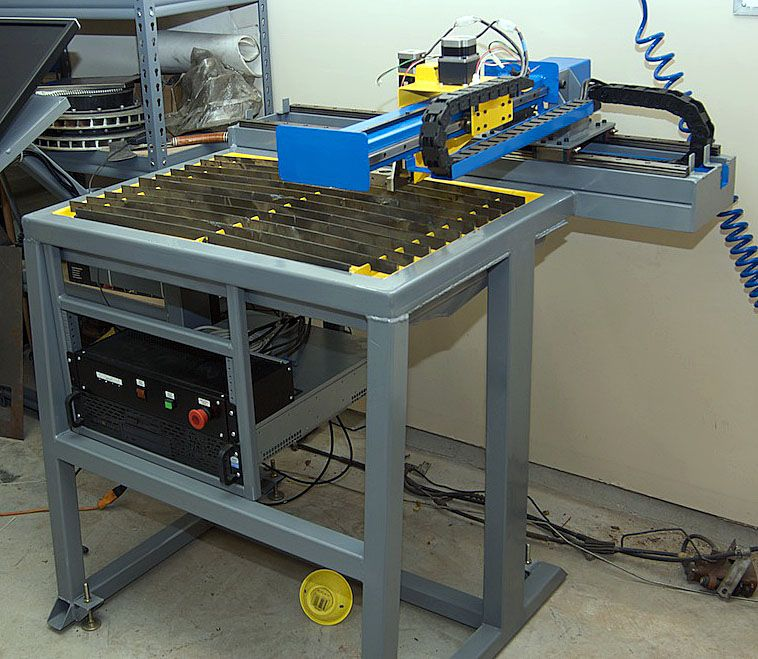 DiY Plans for CNC plasma table 1250 x 1250 mm with water tray