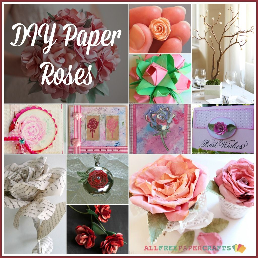 How to Make Paper Roses  Paper roses Diy paper roses and Paper