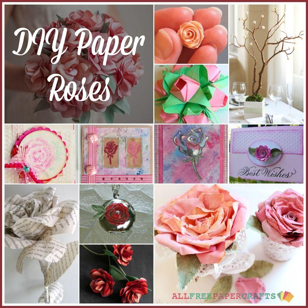 How to Make Paper Roses  Paper roses Diy paper roses and Paper