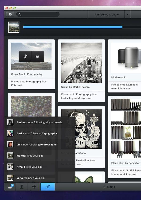 Pinterest desktop software.