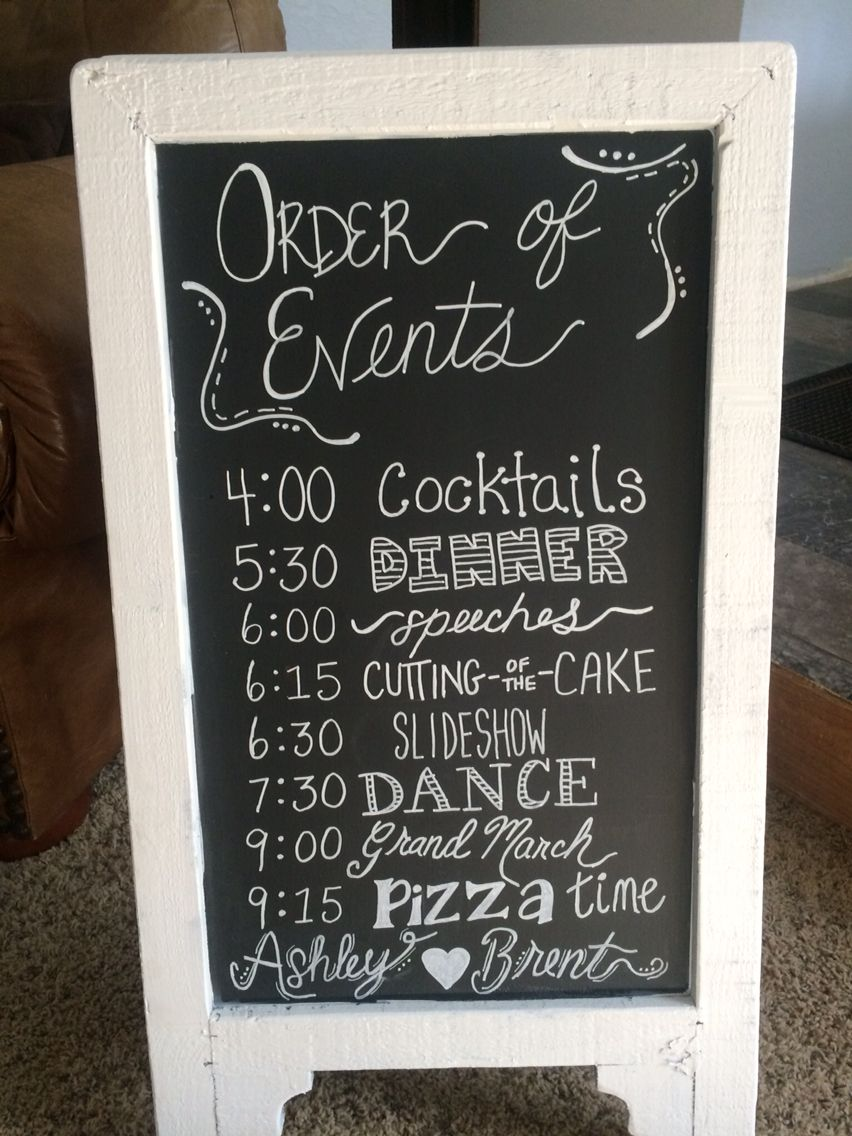 Order of events wedding sign my crafts pinterest order of events wedding sign junglespirit Image collections