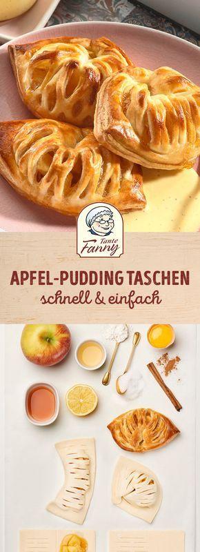 Apfel-Pudding-Taschen - Tante Fanny