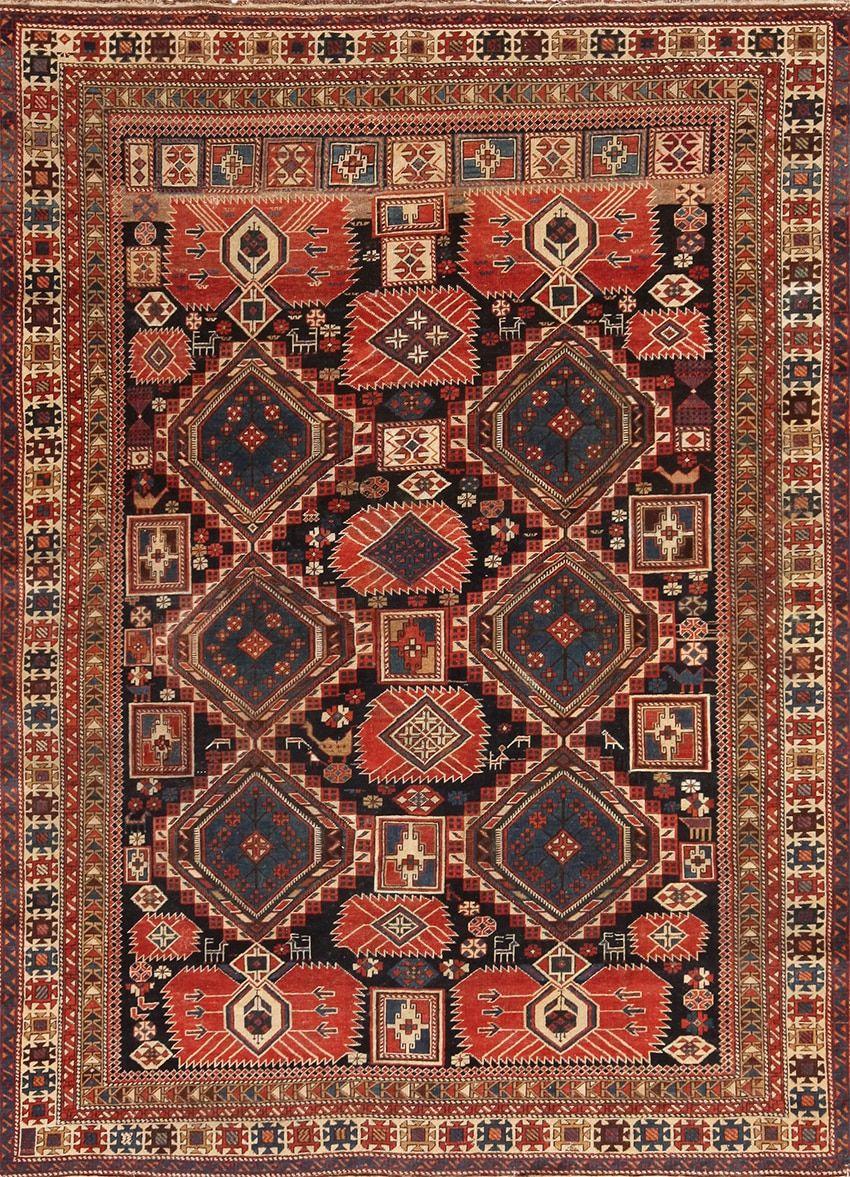 Antique Caucasian Shirvan Rug 70076
