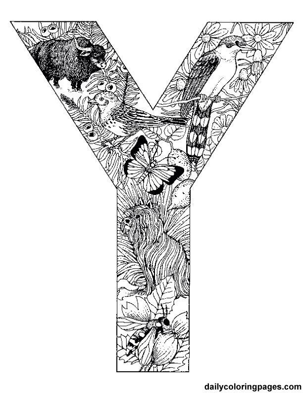 Y Doodle Animal Coloring Pages Alphabet Letters To Print Coloring Pages