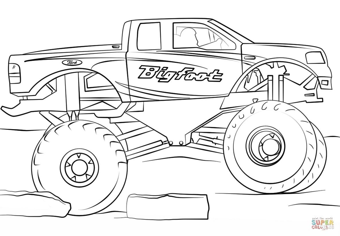 Monstor Truck Coloring Pages Easy To Color Monster Truck Coloring Pages Truck Coloring Pages Cars Coloring Pages