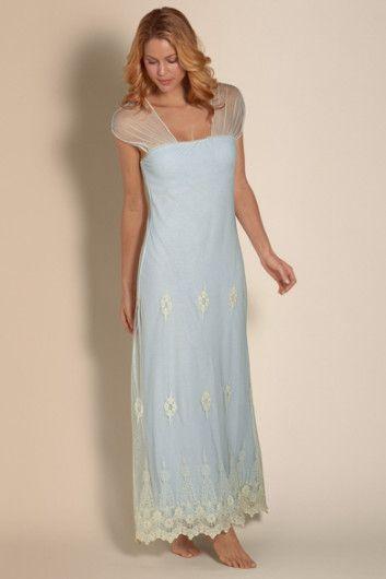 Antoinette Gown - Nightgown Built In Bra, Shelf Bra Nightgown ...