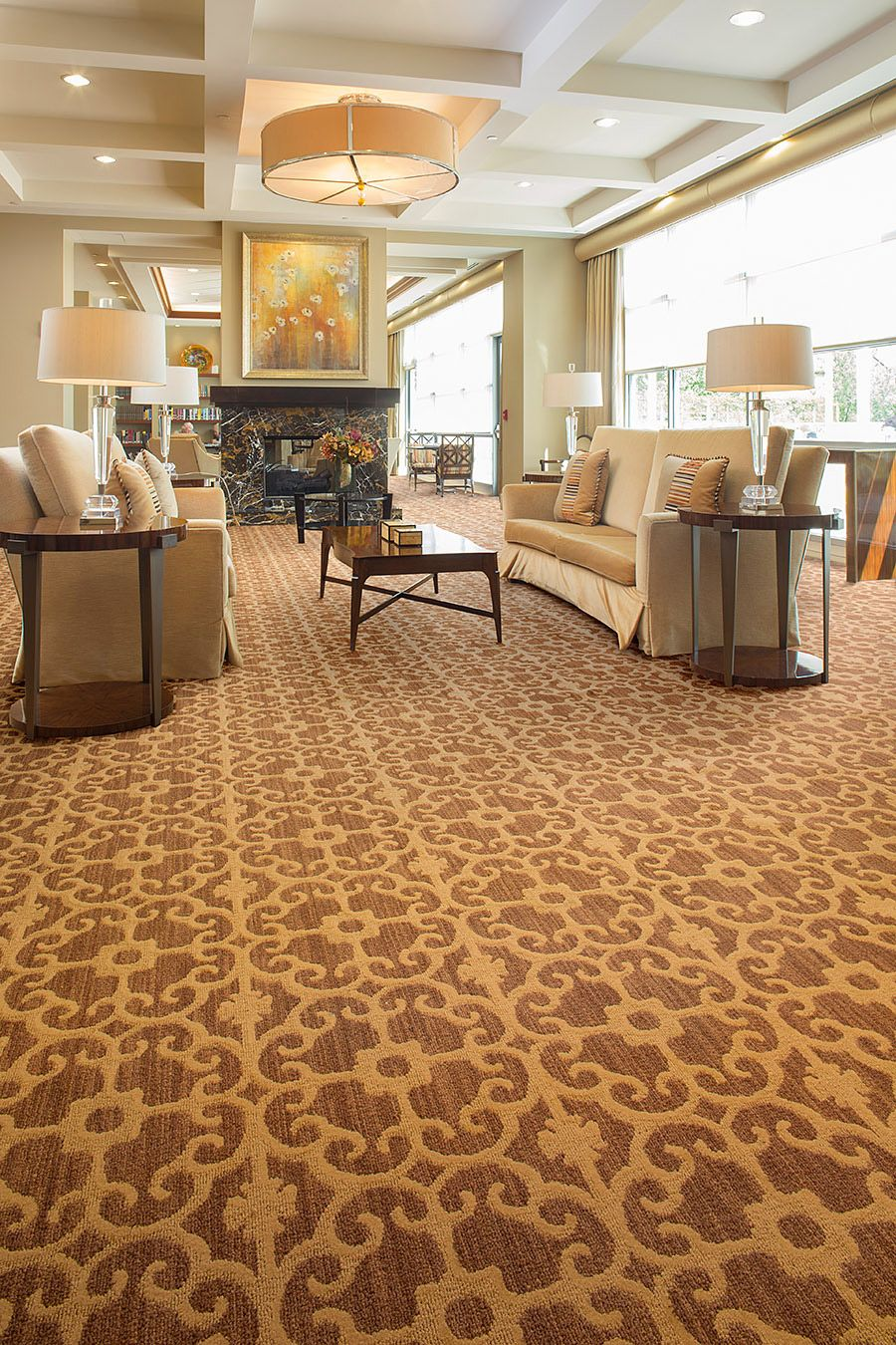 This Comes In A Few Colors But I Think The Pattern Might Be Too Wide For The Stairs Ornate Metal Lees Commer Carpet Tiles Home Depot Carpet Patterned Carpet
