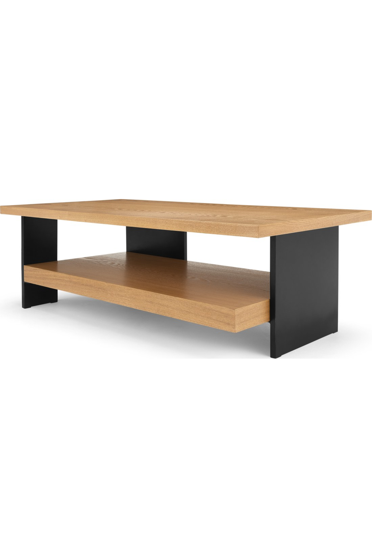 Travers Coffee Table Black Metal And Ash Made Coffee Table