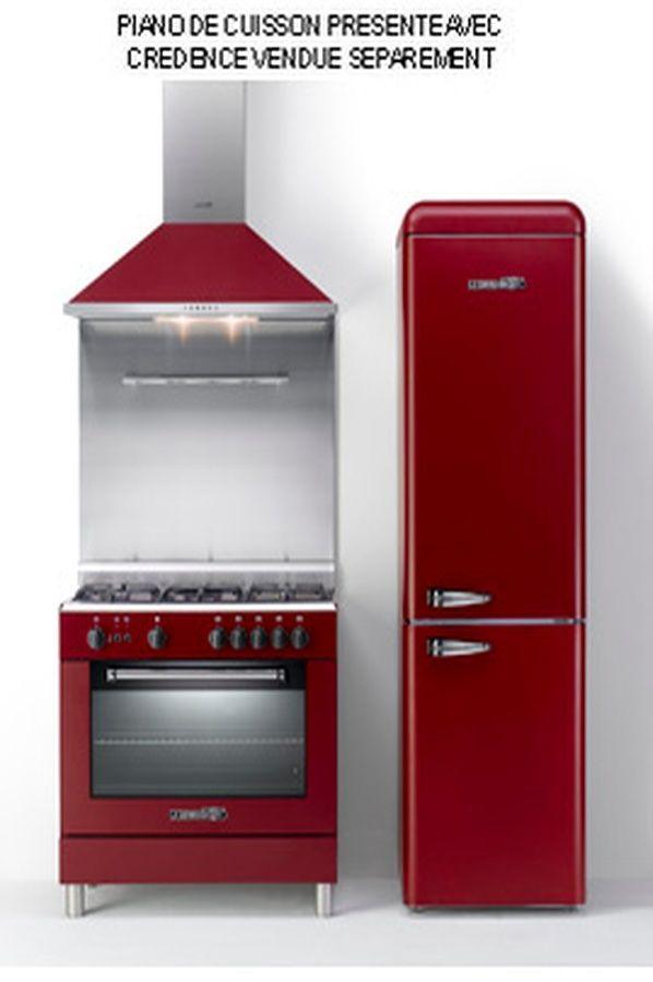 Piano De Cuisson La Germania TCVIDT ROUGE Cuisine - Cuisiniere 4 feux gaz four electrique catalyse pour idees de deco de cuisine