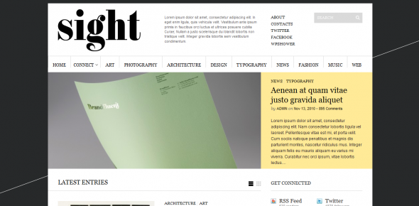 Sight - Template WordPress Free