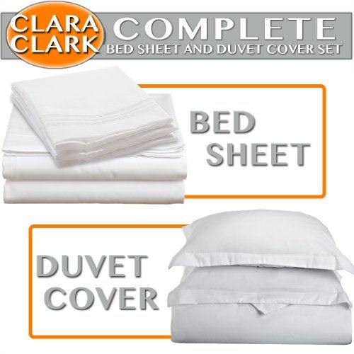 Clara Clark Complete 7 Piece Bed Sheet and Duvet Cover Set, King Size, White Clara Clark,http://www.amazon.com/dp/B003R484GI/ref=cm_sw_r_pi_dp_s6qptb0K56TACWSR