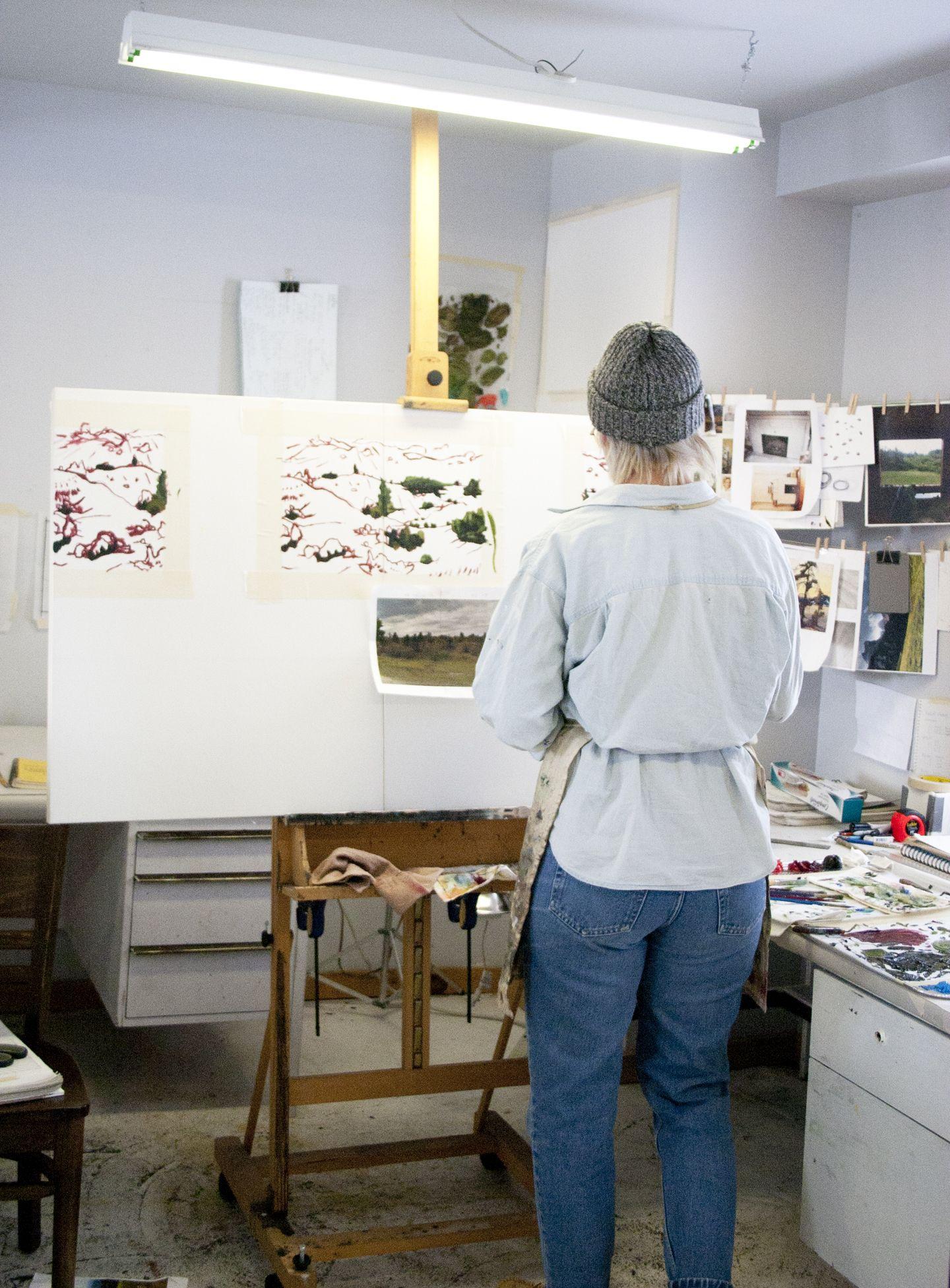 Kristen Sharpe #artist-in-residence #painter #PrinceEdwardCounty #sparkboxstudio