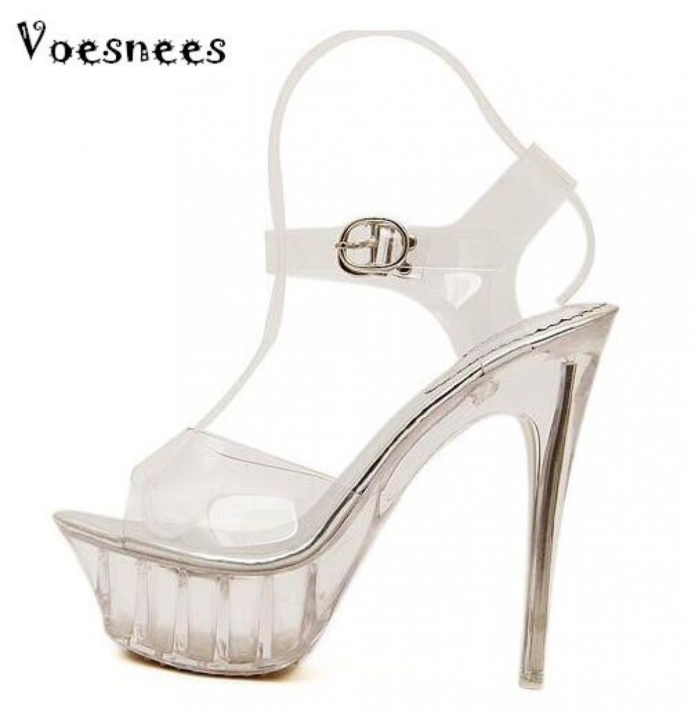 8ec8a036f0 Sandals women Platform model T Stage Show Sexy High-heeled Shoes 14 ...
