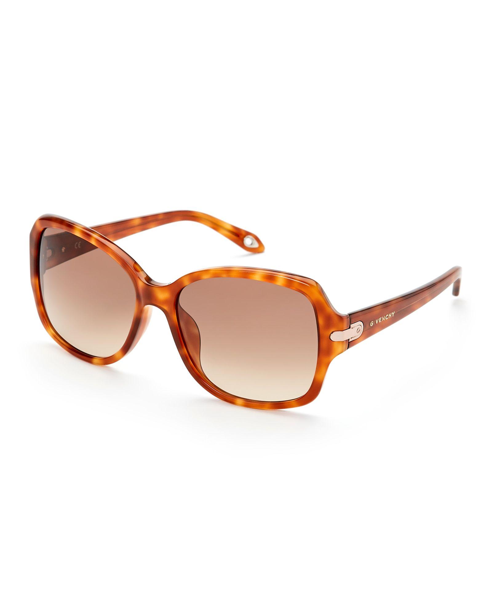 Givenchy Honey Havana SGV897 XL Square Sunglasses