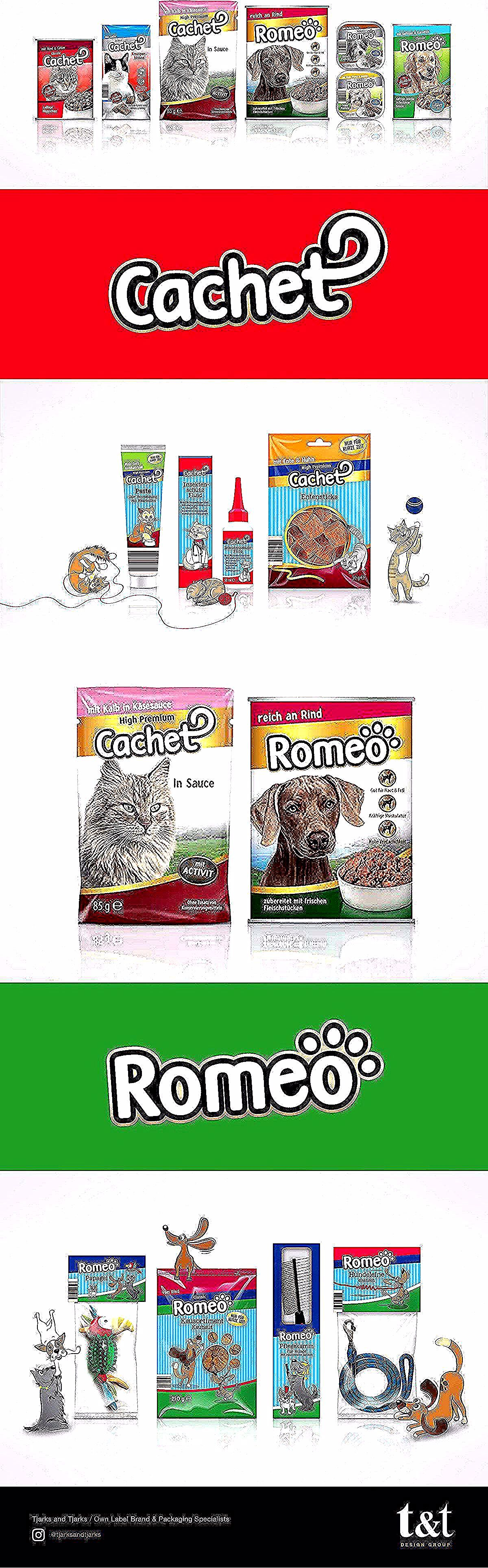Romeo Cachet Pet Packaging Design Our Design Team Had To Develop A New Look For The Entire Aldi Sud Pet Food Ranges A Food Animals Packaging Design Aldi