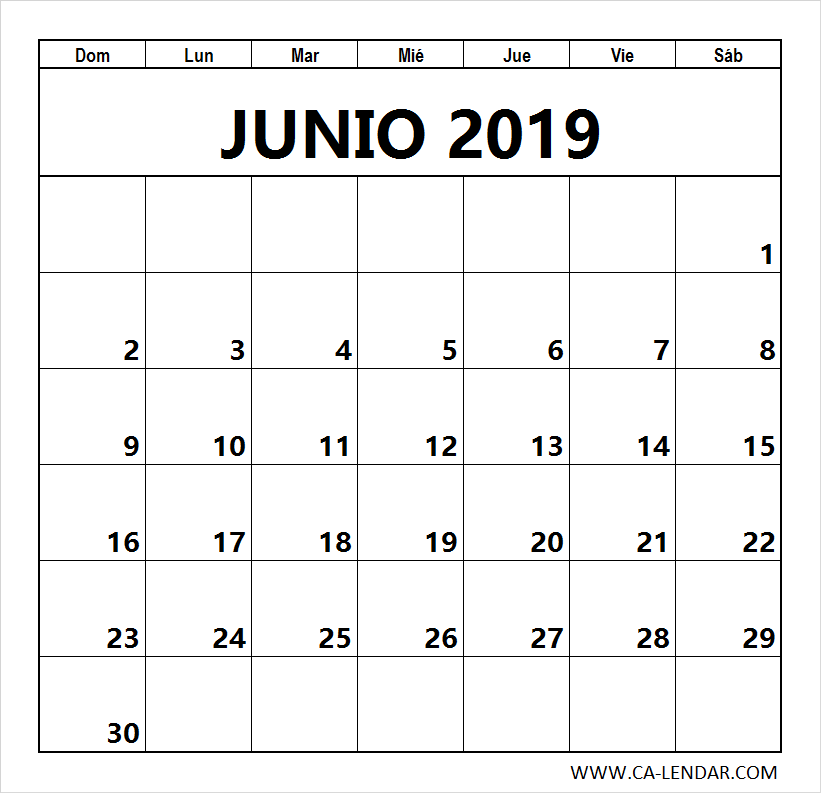 Calendario De Junio.Top 10 Punto Medio Noticias Calendario Junio 2019 Para Imprimir Gratis