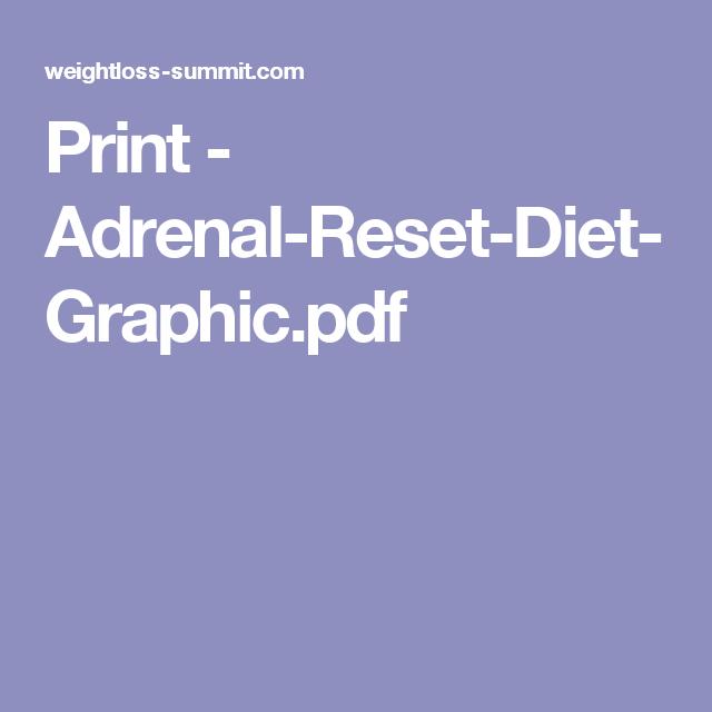 Adrenal Reset Diet Pdf