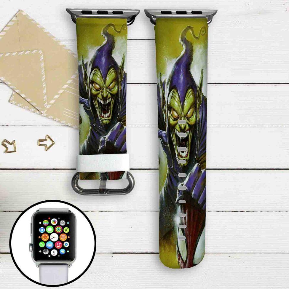 Green Goblin Marvel Custom Apple Watch Band Leather Strap