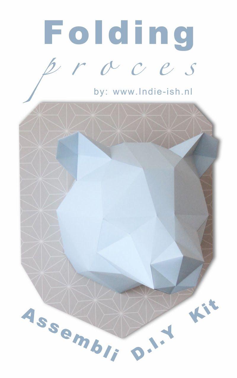 Vouw instructie diy kit assembli origami folding kit assembli vouw instructie diy kit assembli origami folding kit assembli bear wall trophy paper jeuxipadfo Choice Image