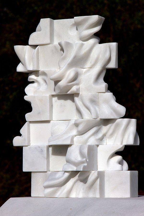 Marton Varo 38 Cubes Carrara Marble 15 1 2 40 Cm Sculpture Installation Contemporary Artists Online Art