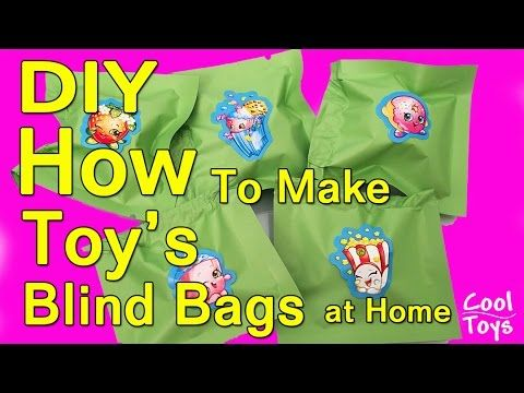Diy How To Make Toy Blind Bags At Home Shopkins Twozies Grossery