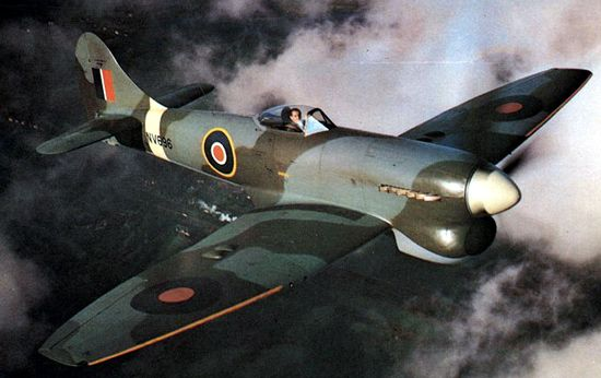 "Sort of a ""super"" Typhoon, the Hawker Tempest had unbelievable technical qualities for a World War 2 airplane. Starting in 1944, it became what was probably the best British propeller fighter aircraft of the war. Thanks to its capacities, the Tempest was responsible for the loss of twenty German Me 262 (the first operational jet aircraft)."