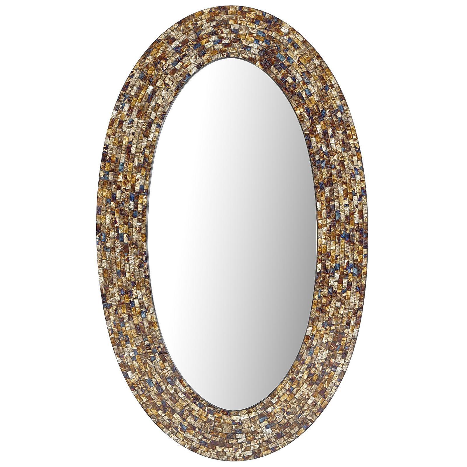 Catriana mosaic 24x40 oval mirror oval mirror diy