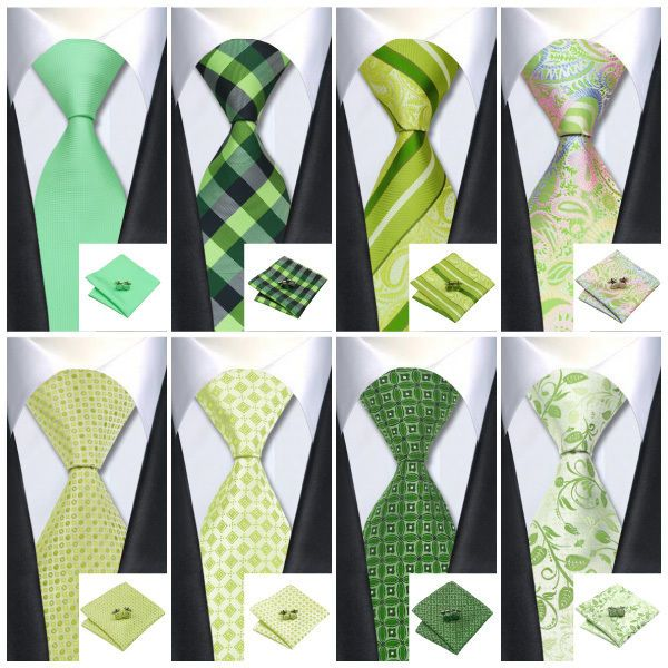 2015 New Hot GREEN ties Jacquard Woven Classic Necktie 100%Silk Men's Tie set in Clothing, Shoes & Accessories, Men's Accessories, Ties | eBay