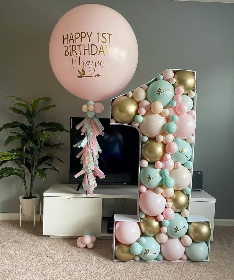 Themed birthday and decor lettersnumbers