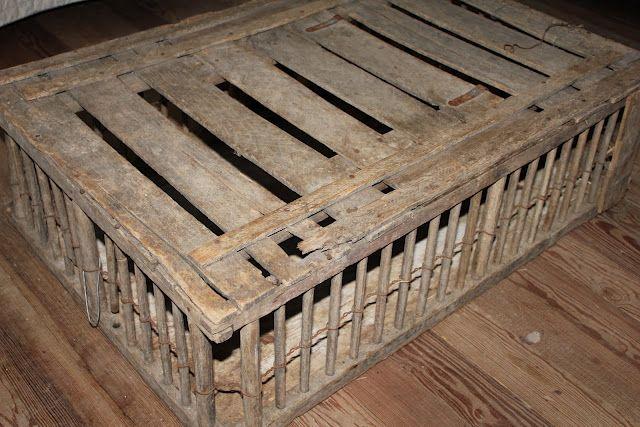 Vintage Wooden Chicken Crate | Baskets, Crates & Pails