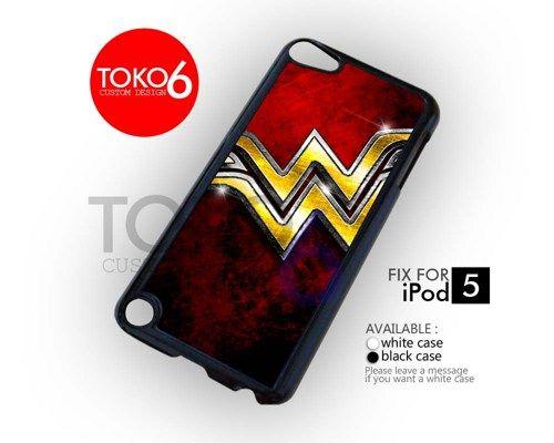 AJ 4211 Wonder Woman Logo - iPod 5 Case   toko6 - Accessories on ArtFire
