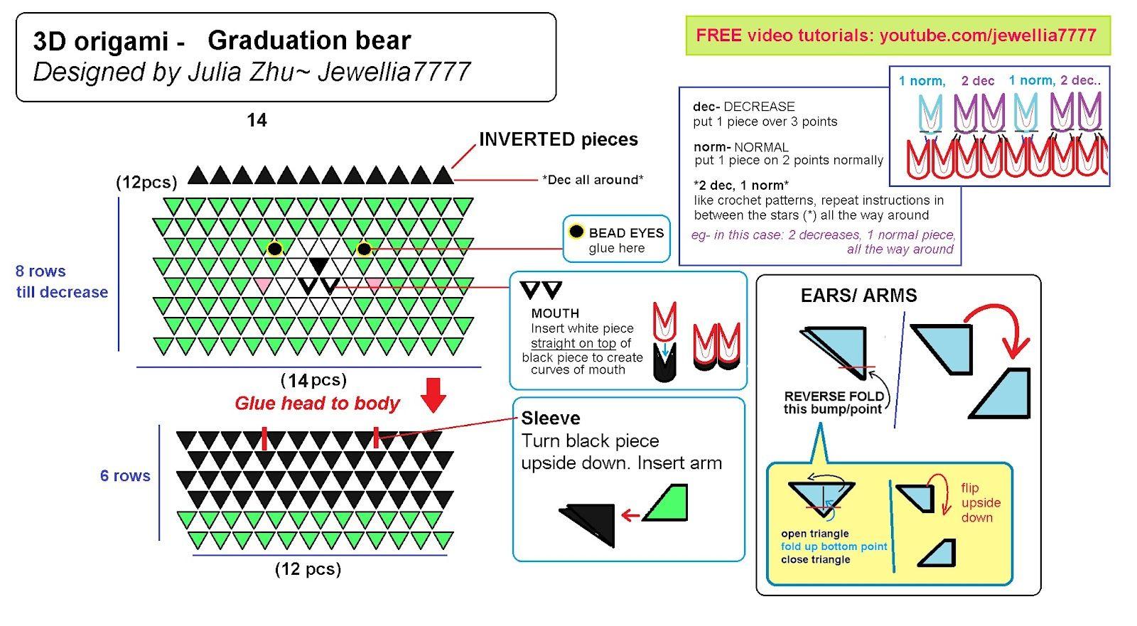 Phenomenal Jewellia Handicrafts New 3D Origami Graduation Bears Diagram Wiring 101 Olytiaxxcnl