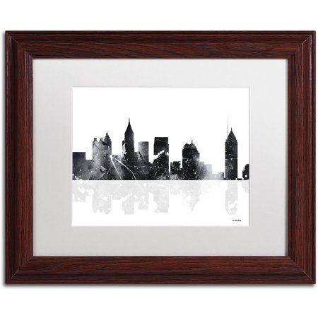 Trademark Fine Art Atlanta Georgia Skyline BG-1 inch Canvas Art by ...