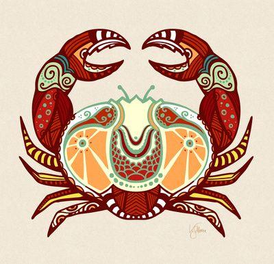 Cancer Zodiac - Crab Art Print