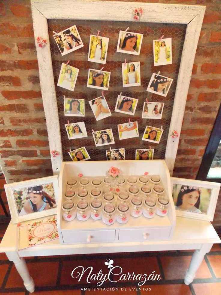 This little girls family celebration of her first communion was first communion birthday party ideas junglespirit Choice Image