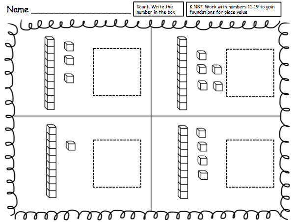 {Place Value Formative Assessment Idea reading tens and ones – Kindergarten Place Value Worksheets