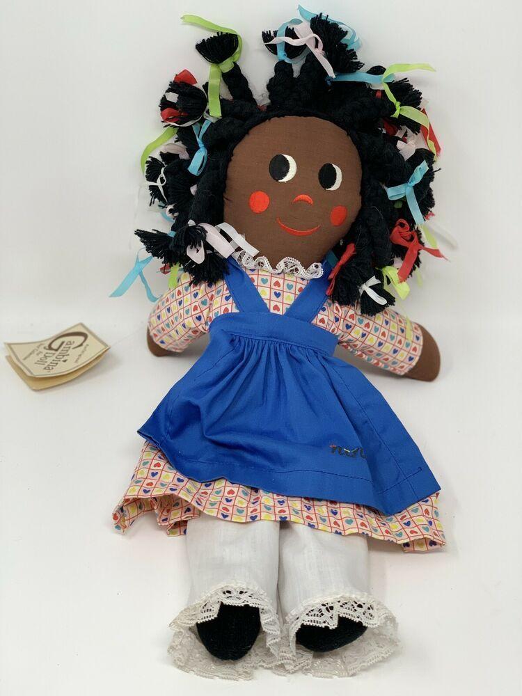 Gambina Ninkie Doll New Orleans African American Rag Folk Doll