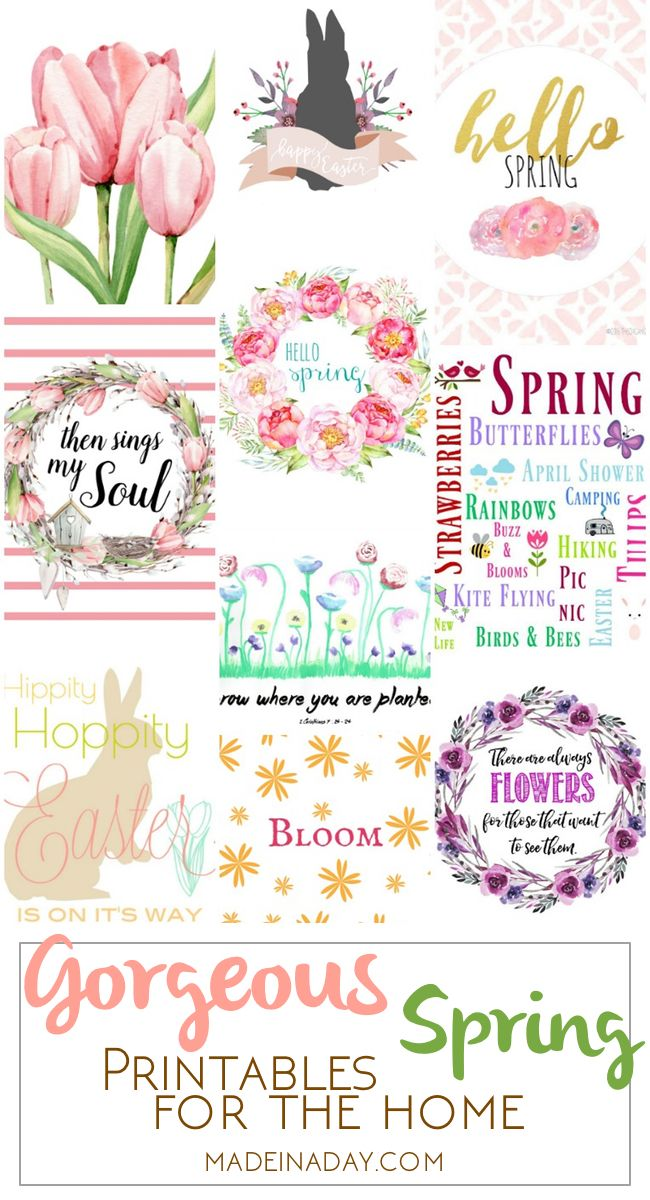 Gorgeous Spring Printable Art for the Home