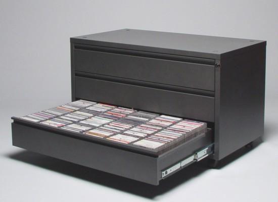 3 Drawer Media Storage Cabinet Holds 1500 Dvd2 Vcd