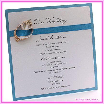 DIY Wedding Invitations Classic Beach Shell httpwww