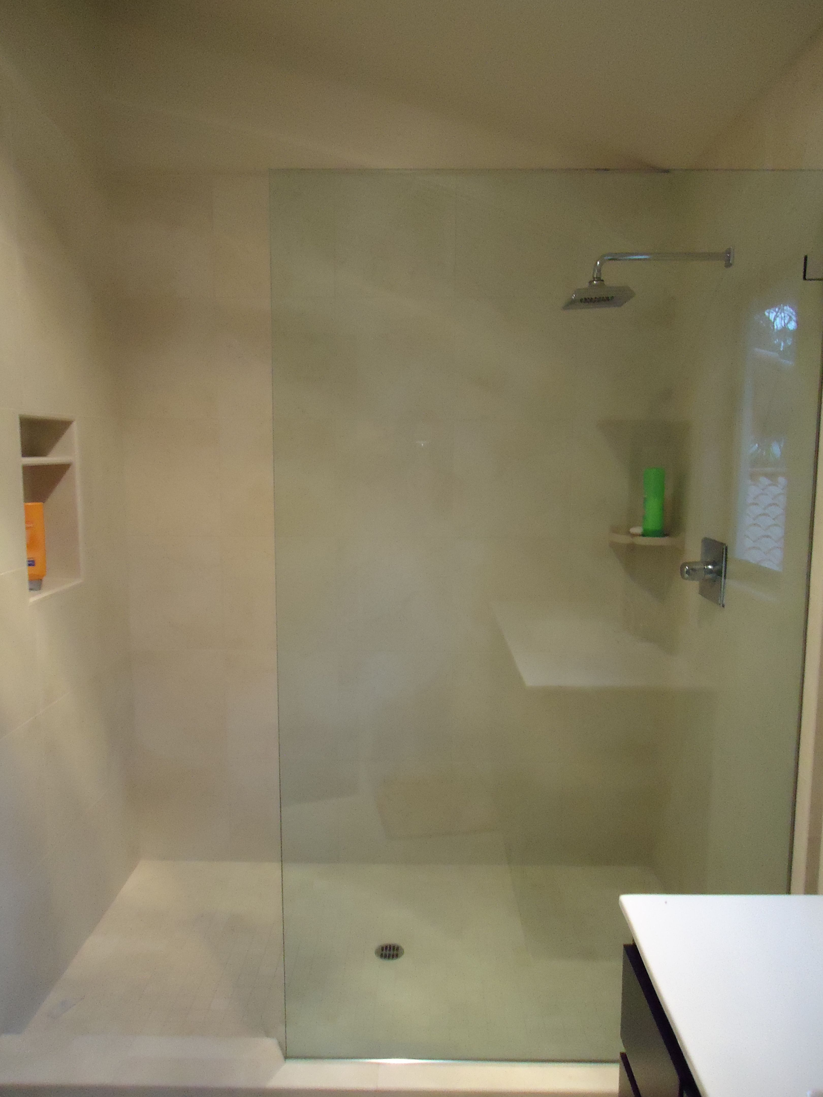 Custom Frameless Shower Screen Fixed Panel No Door