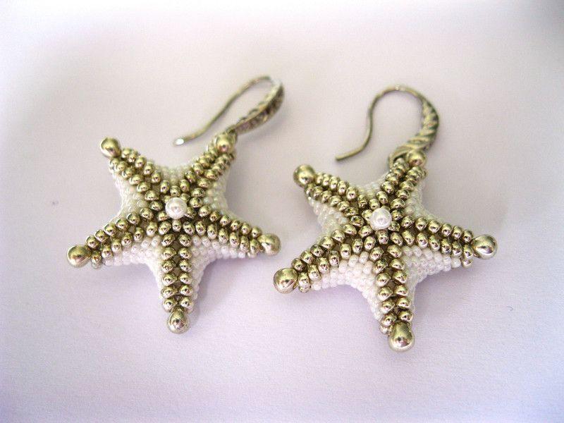 Ohrhänger - AugustWolke Ohrhänger *Starfish* Glasperlenohrring - ein Designerstück von NataKoma bei DaWanda