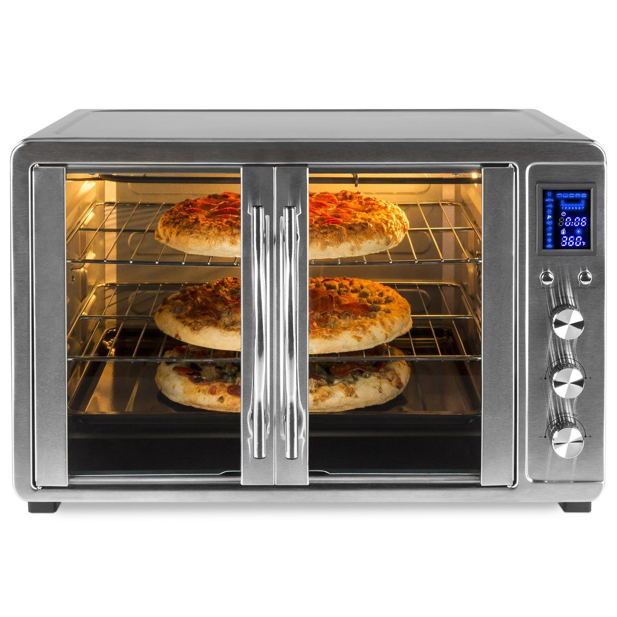 55l 1800w Extra Large Countertop Convection Toaster Oven W French