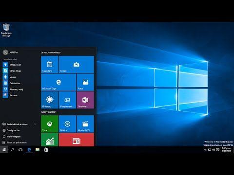 Configuración del Menú inicio en Windows 10 - YouTube